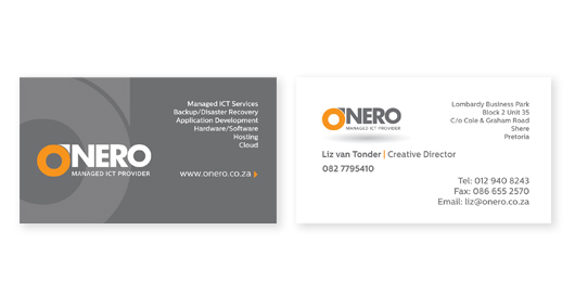 on business cards